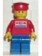 Minifig No: exx002  Name: Exxon - Blue Legs, Red Hat