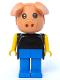 Minifig No: fab11b  Name: Fabuland Figure Pig 2