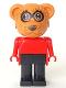 Minifig No: fab12a  Name: Fabuland Figure Raccoon 1