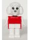 Minifig No: fab14a  Name: Fabuland Figure Poodle with Black Eyes