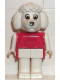Minifig No: fab14b  Name: Fabuland Figure Poodle with White Eyes