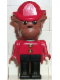 Minifig No: fab2f  Name: Fabuland Figure Bulldog 7 with Fire Helmet