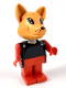 Minifig No: fab5e  Name: Fabuland Figure Fox 1
