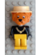 Minifig No: fab7g  Name: Fabuland Figure Lion 2 with White Hat