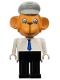 Minifig No: fab8a  Name: Fabuland Figure Monkey 1 with Light Gray Hat