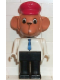 Minifig No: fab8b  Name: Fabuland Figure Monkey 1 with Red Hat