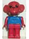 Minifig No: fab8c  Name: Fabuland Figure Monkey 7