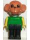 Minifig No: fab8d  Name: Fabuland Figure Monkey 4