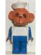 Minifig No: fab8h  Name: Fabuland Figure Monkey 3 with White Hat