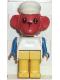 Minifig No: fab8i  Name: Fabuland Figure Monkey 6 with White Hat