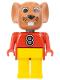 Minifig No: fab9b  Name: Fabuland Figure Mouse 2