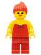 Minifig No: fbr003  Name: Red Halter Top - Red Legs, Red Ponytail Hair