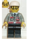 Minifig No: fire001  Name: Fire - City Center 1, Black Legs, White Cap, Moustache