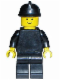 Minifig No: fire005  Name: Plain Black Torso with Black Arms, Black Legs, Black Fire Helmet