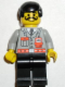 Minifig No: fire006  Name: Fire - City Center 1, Black Legs, Black Male Hair