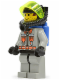 Minifig No: fire007  Name: Fire - City Center 4, Light Gray Legs with Black Hips, Black Breathing Helmet 2