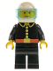 Minifig No: firec003  Name: Fire - Classic, White Helmet, Trans-Light Blue Visor