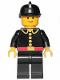 Minifig No: firec004  Name: Fire - Classic, Black Fire Helmet