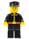 Minifig No: firec008  Name: Fire - Classic, Black Hat, Captain