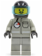 Minifig No: firec013  Name: Fire - Air Gauge and Pocket, Light Gray Legs, Moustache, Black Helmet, Trans-Light Blue Visor