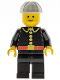 Minifig No: firec016  Name: Fire - Classic, White Construction Helmet