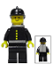 Minifig No: firec019s  Name: Fire - Torso Sticker with 4 Buttons, Black Fire Helmet, Light Gray Airtanks