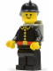 Minifig No: firec024  Name: Fire - Classic, Black Fire Helmet, Light Gray Airtanks