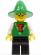Minifig No: fre002  Name: FreeStyle Timmy with Black Legs and Green Wizard / Witch Hat