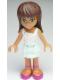 Minifig No: frnd012  Name: Friends Sarah, Light Aqua Layered Skirt, White Top