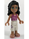 Minifig No: frnd026  Name: Friends Ella, White Cropped Trousers, Magenta Top