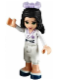 Minifig No: frnd037  Name: Friends Emma, White Karate Uniform, Bow
