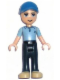 Minifig No: frnd066  Name: Friends Andrew, Dark Blue Trousers, Medium Blue Polo Shirt, Blue Cap