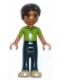Minifig No: frnd069  Name: Friends Robert, Dark Blue Trousers, Bright Green Polo Shirt
