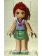 Minifig No: frnd071  Name: Friends Mia, Sand Green Skirt, Lavender Top