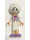 Minifig No: frnd085  Name: Friends Sophie, White Long Skirt, Magenta Top with White Jacket, White Turban, Light Aqua Mask