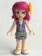 Minifig No: frnd124  Name: Friends Livi, Flat Silver Layered Skirt, Medium Lavender Vest, Flower