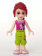 Minifig No: frnd130  Name: Friends Mia, Lime Cropped Trousers, Magenta Top