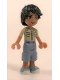 Minifig No: frnd170  Name: Friends Matthew, Sand Blue Long Shorts, Khaki Shirt