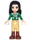 Minifig No: frnd180  Name: Friends Emma, Tan Riding Pants, Green Sweater with Scarf
