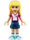 Minifig No: frnd232  Name: Friends Stephanie, Dark Blue Shorts, Soccer Jersey