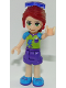 Minifig No: frnd233  Name: Friends Mia, Dark Purple Shorts, Lime Top, Sunglasses