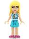 Minifig No: frnd251  Name: Friends Stephanie, Medium Azure Skirt, Medium Azure and White Top