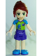 Minifig No: frnd255  Name: Friends Mia, Dark Purple Shorts, Lime Top