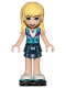 Minifig No: frnd258  Name: Friends Stephanie, Dark Blue Layered Skirt, Medium Azure and Dark Purple Vest, Black Roller Skates
