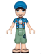 Minifig No: frnd272  Name: Friends Zack, Sand Green Cropped Trousers, Blue Shirt over Medium Blue T-Shirt, Blue Cap with Hole