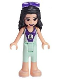 Minifig No: frnd305  Name: Friends Emma, Light Aqua and Dark Purple Wetsuit, Sunglasses