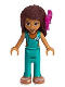 Minifig No: frnd308  Name: Friends Andrea, Dark Turquoise Wetsuit, Bow
