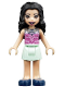 Minifig No: frnd309  Name: Friends Emma, Light Aqua Skirt, Dark Pink Top