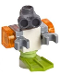 Minifig No: frnd317  Name: Friends Zobo the Robot, Lime Flipper