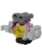 Minifig No: frnd339  Name: Friends Zobo the Robot, Roller Skate and Trans-Yellow Round Tile